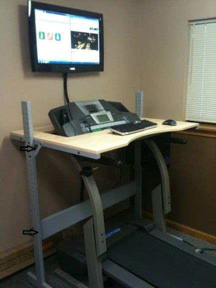 Inspiration for a few DIY's for the Home Office - Seriously...now there's NO excuse for me not exercising!  Work and exercise at the SAME time! Must do this..