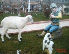 Seated Shepherd Boy Statue