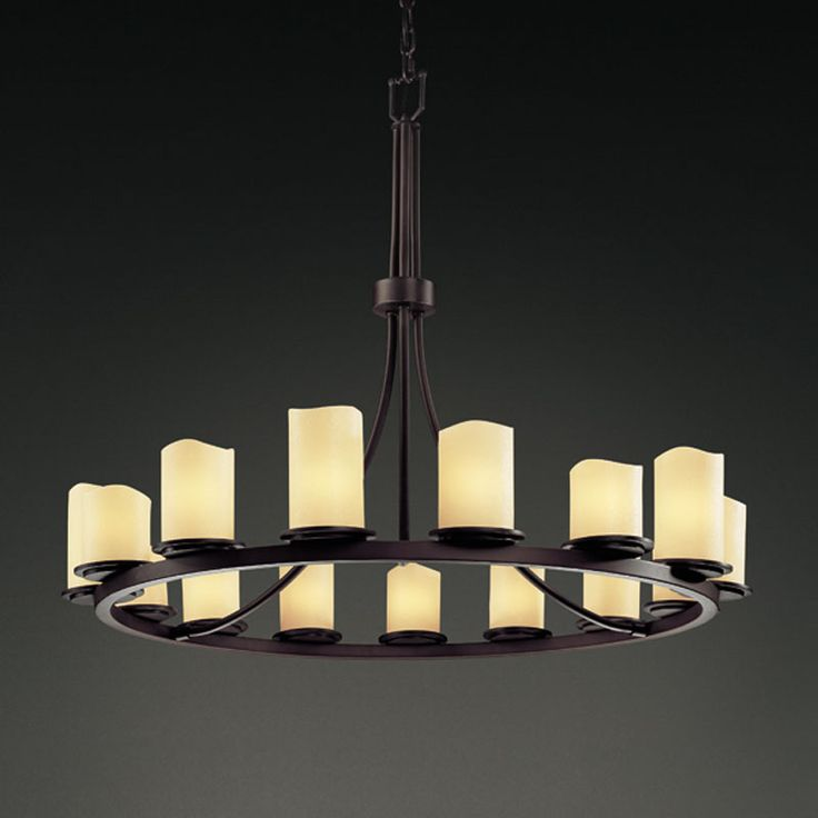Off Candlearia Dakota Fif Light Ring Chandelier By Justice Design Group