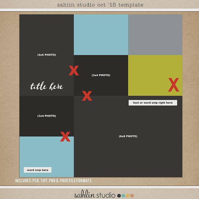 FREE October '15 Digital Scrapbooking Template by Sahlin Studio