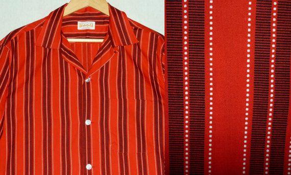 NOS / 1950s Shirt / L / Rockabilly Shirt / Loop Collar / New