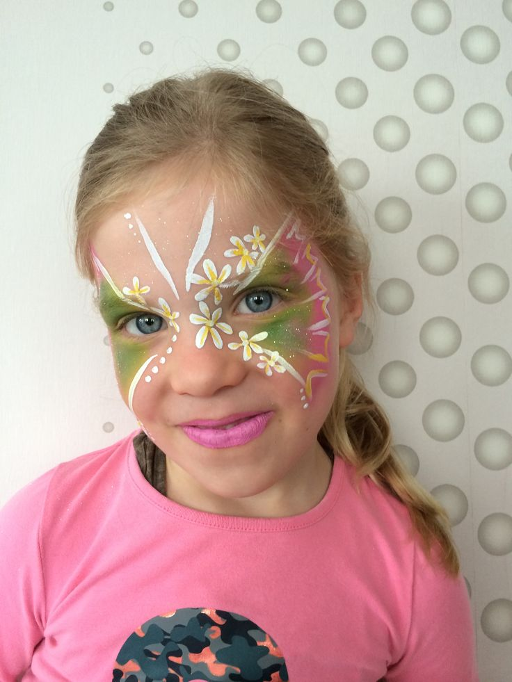 Face paint flower butterfly