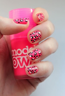 Fundamentally Flawless: Models Own Neon Pink Leopard Nails