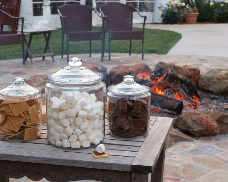 At our block party, we put a fire pit on our col-de-sac along with tables of food and drinks. Almost everyone on our block has a different cultural food to share. It is quite delicious.