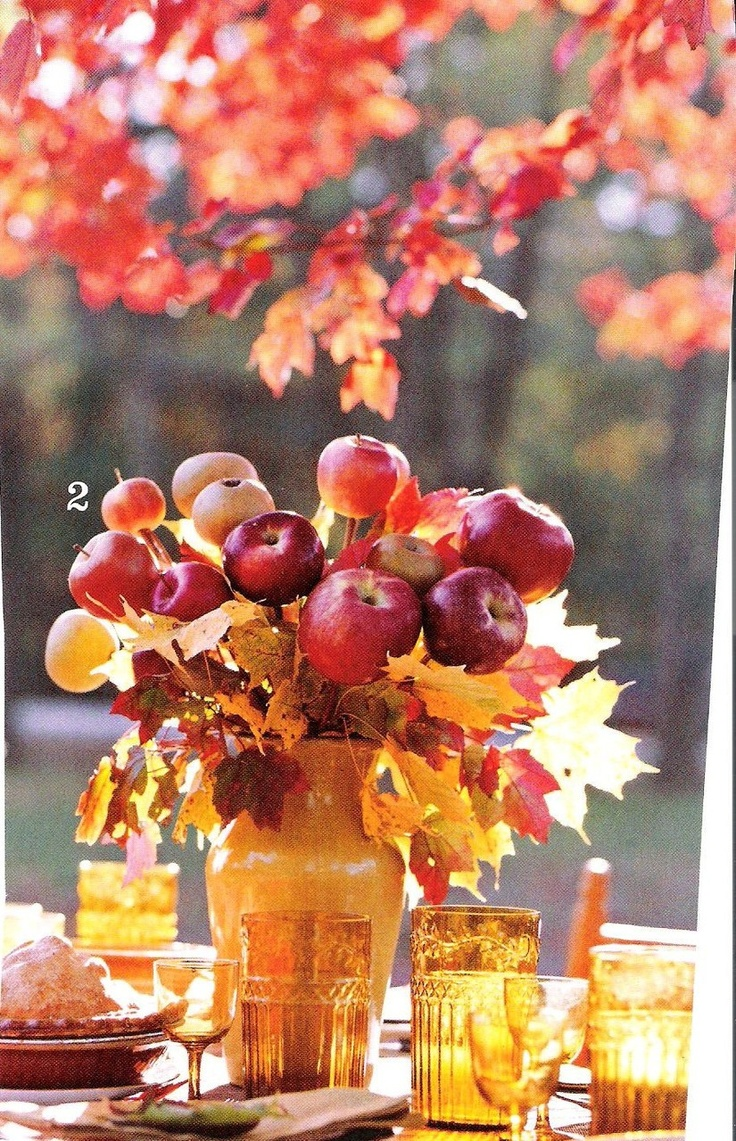 Apple centerpiece beautiful for fall my style