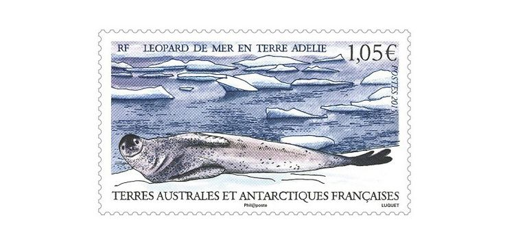 COLLECTORZPEDIA: TAAF Stamps Leopard Seal (Hydrurga leptonyx)
