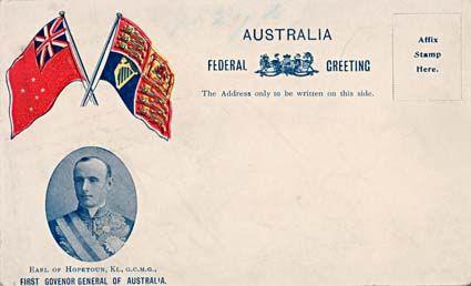 Australia. Federal Greeting - The Birth Of A Nation - Postcard.