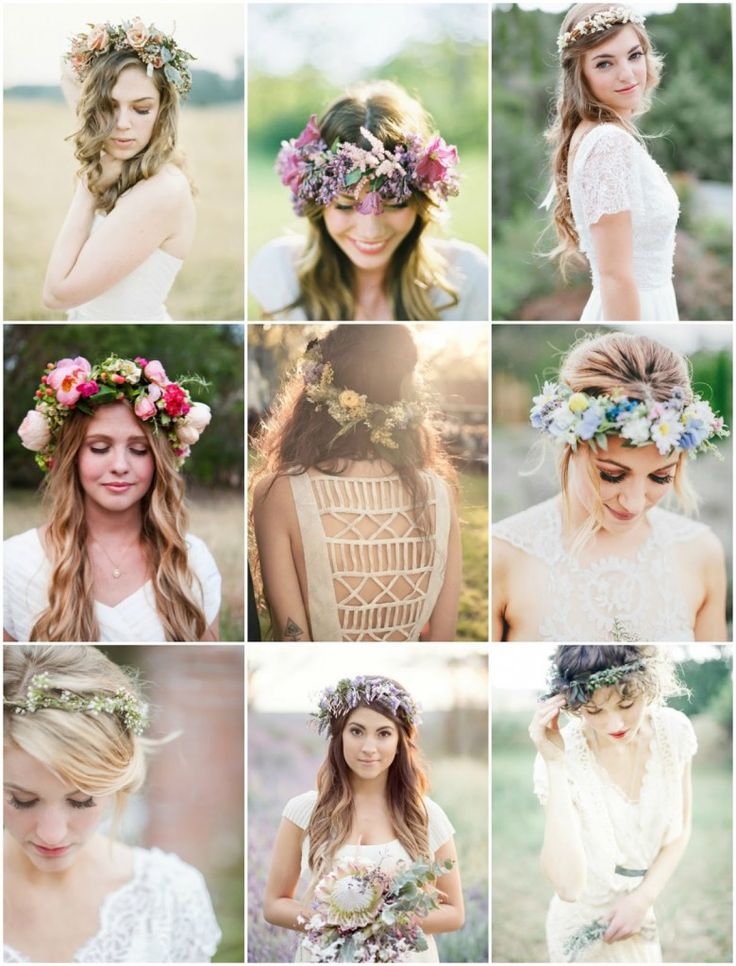 PEINADOS CON FLORES | Popelin | Happy Weddings + Info sobre nuestro #curso de Personal Shopper ► http://curso-personalshopper.com/msite-draggable/index.php?PinterestCursoCMO
