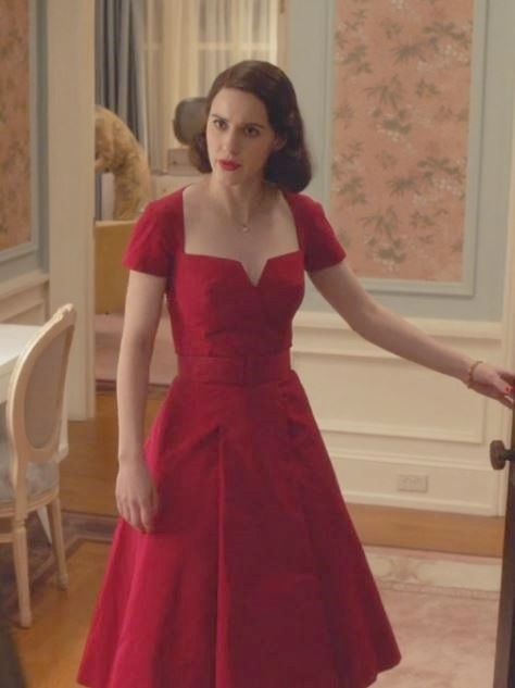 The Marvelous Mrs Maisel Wardrobe Red Dress 1950s