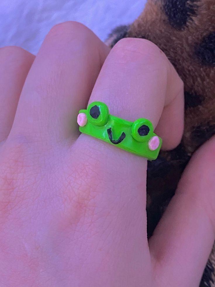 C L A Y R I N G In 2021 Diy Clay Crafts Indie Jewelry Cute Jewelry