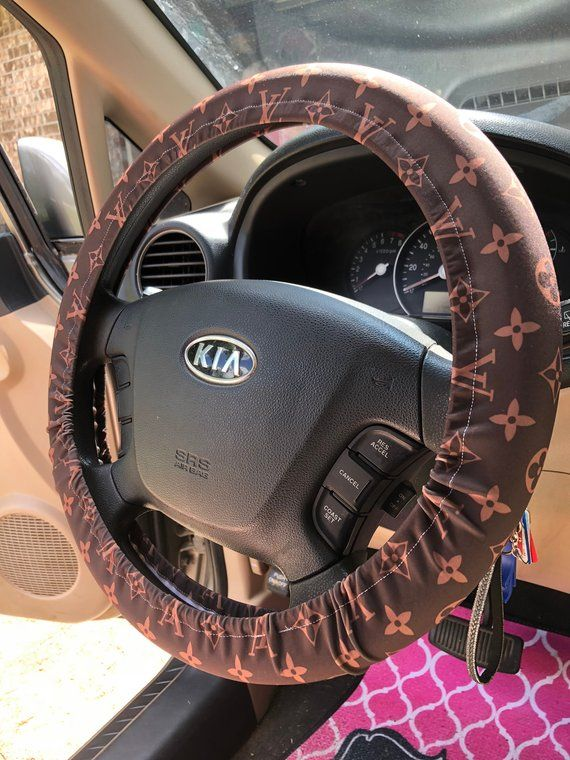 Lv Louis Vuitton Inspired Steering Wheel Cover Car Accessories