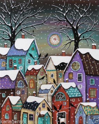 Winter Houses ~ by Karla Gerard