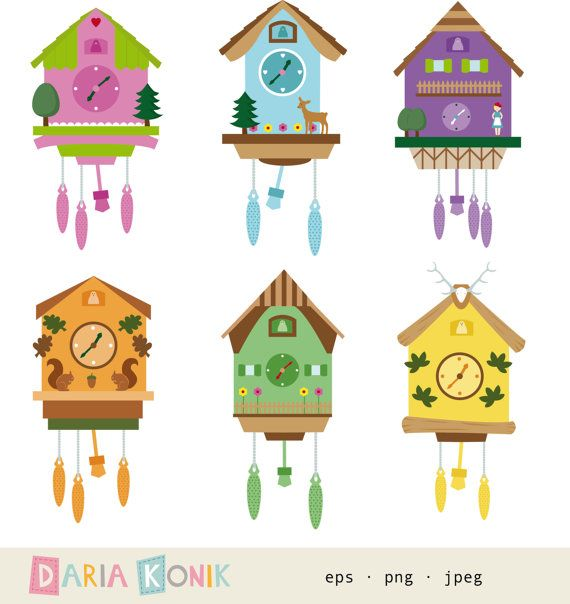 17 best images about sue 39 s school ideas on pinterest activities bulletin board borders and - Colorful cuckoo clock ...