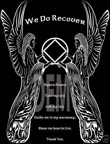 Narcotics Anonymous - NA Angels - 3 Step Prayer T-Shirt - 100% cotton #Gildan #BasicTee