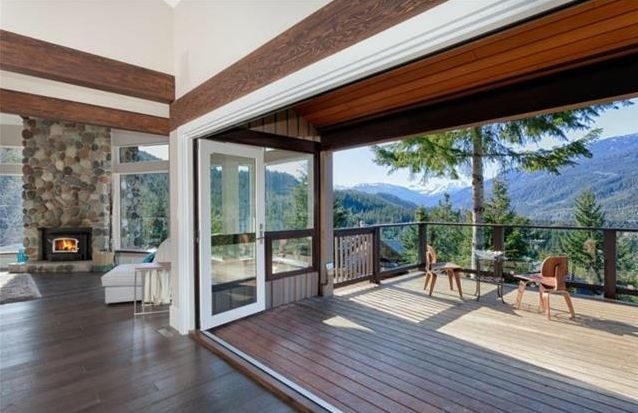 Connecting indoor & outdoor spaces | Amber Mann - Whistler Real Estate #Whistler #Deck