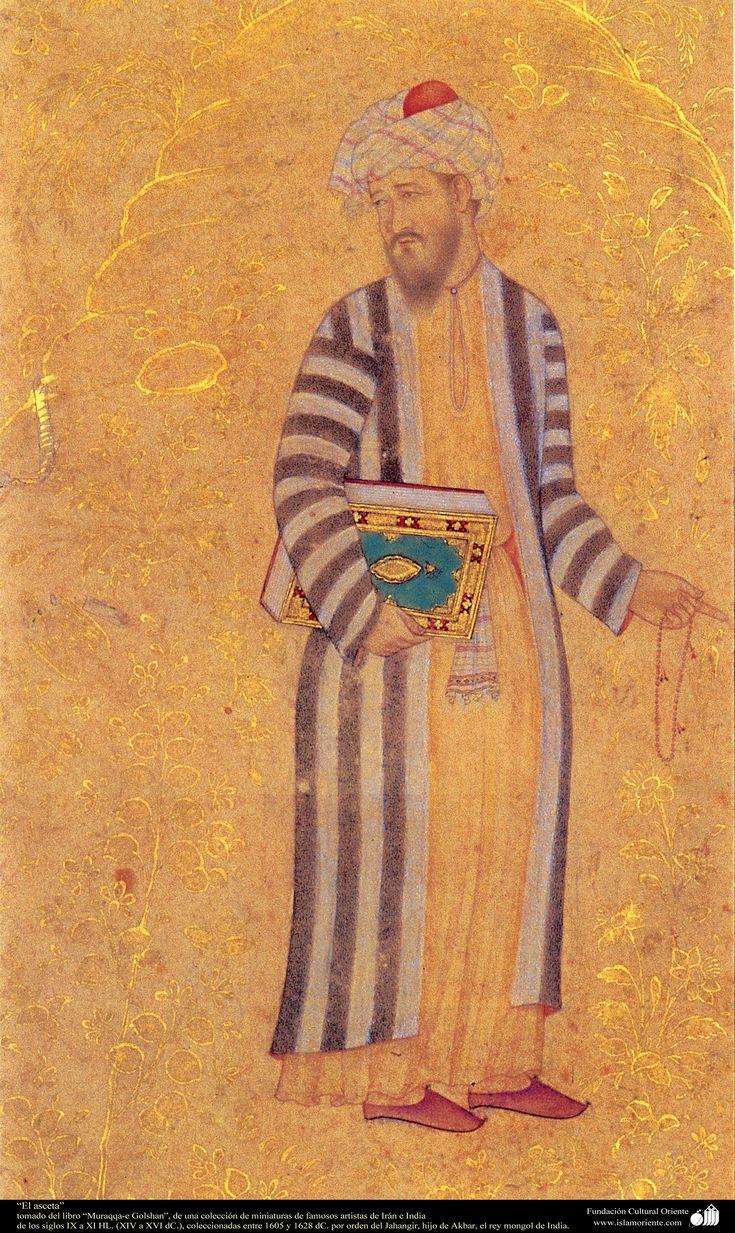"""""""The ascet"""" - miniature book Moraqqaʿ-e Golšan 1605-1628"""