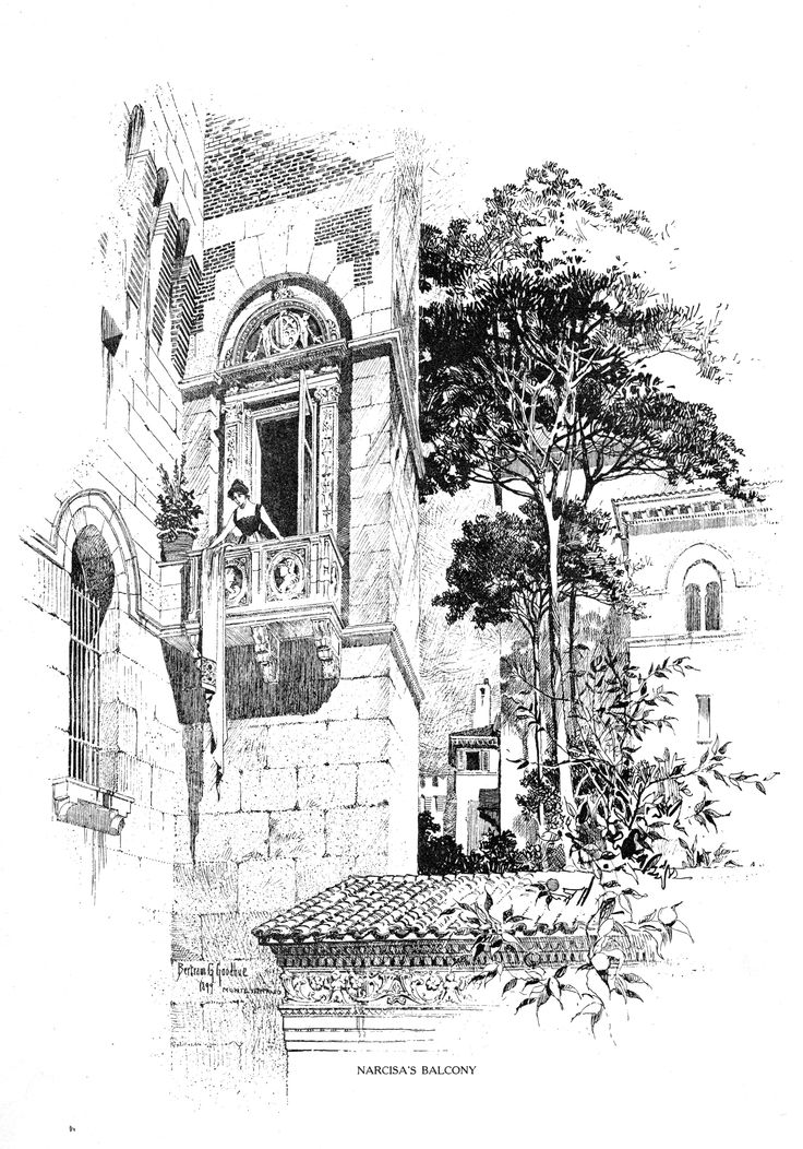 Bertram Grosvenor Goodhue, Architect (1869-1924) Monteventoso.  From Narcisa's Balcony