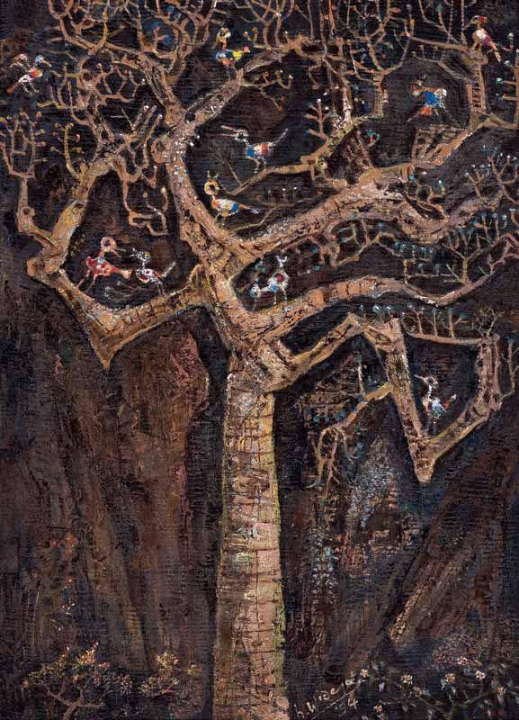 H Widayat - Burung - Burung di Pohon (Birds on the Tree)