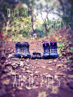 hiking boots baby announcement - Google Search