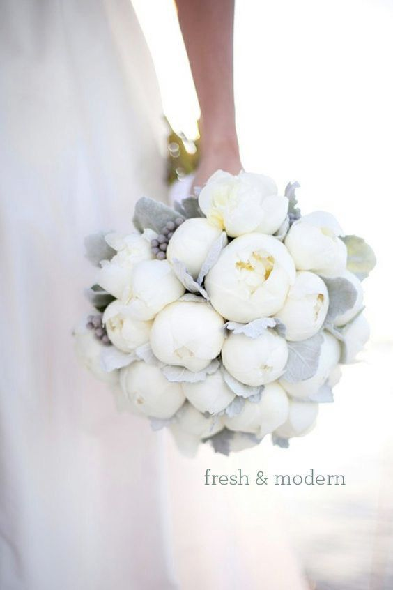 White Peony Silk Flowers Wedding Bouquet Fresh and Modern~ by CocoChicBouquet on Etsy #weddingflowers
