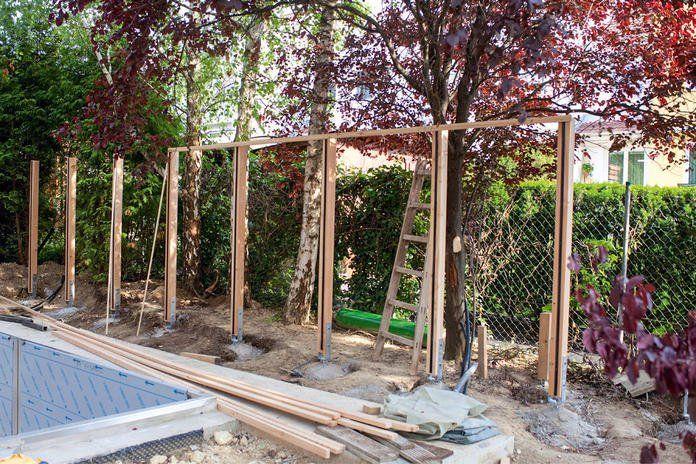 Sichtschutz aus Holz selber bauen (mit Bildern