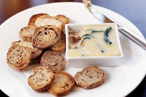 Serve this creamy chicken liver pate with little toasts as an elegant finger food.