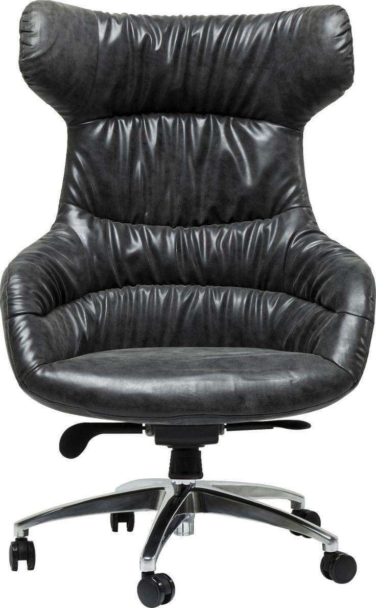 Καρέκλα Γραφείου Boss Crinkly Αναπαυτική διευθυντική καρέκλα γραφείου με επένδυση από δερματίνη και τροχήλατη βάση από χάλυβα.