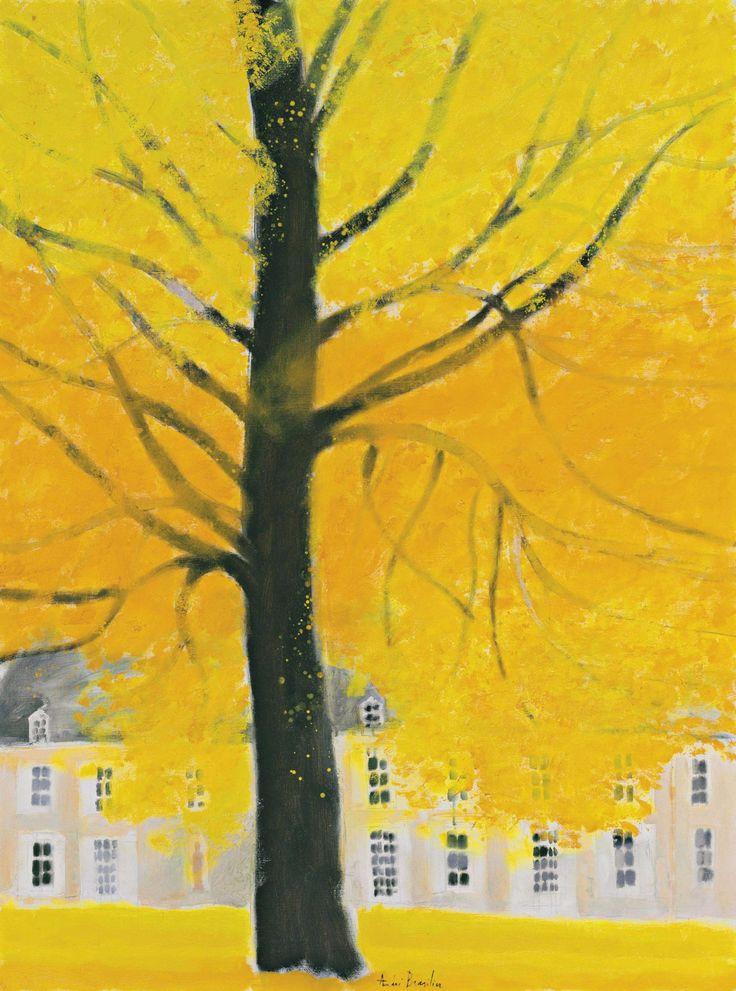 lawrenceleemagnuson:  Andre Brasilier (France b. 1929) Automne à Loupeigne (1973)oil on canvas 130.2 x 97.2 cm