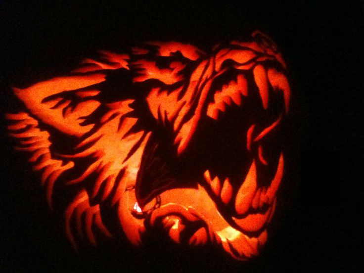 Awesome wolf drawings google search big bad wolves for Big pumpkin carving patterns