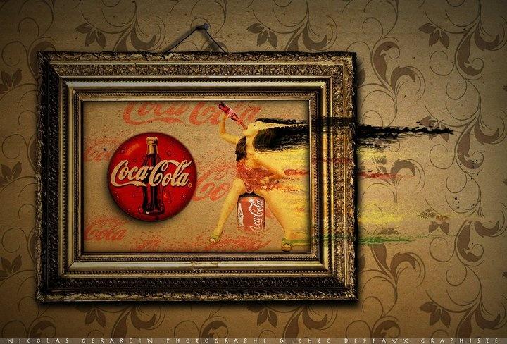 Coke it!!  Photoshop - 2011  Plus de travaux sur   ==> www.cubriks.com