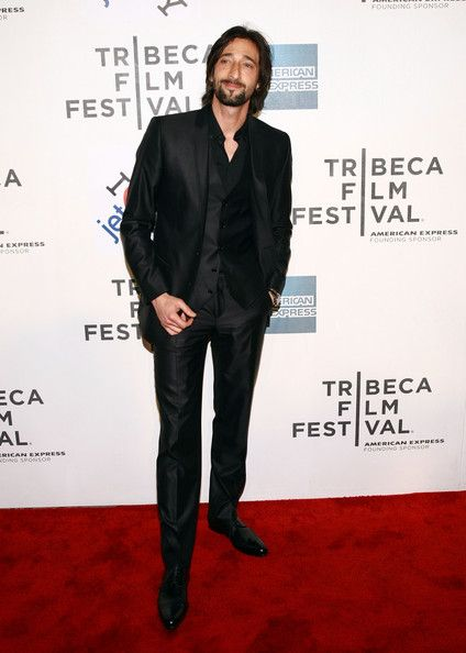 Adrien Brody Men's Suit - We cannot overlook the always charming Adrien Brody who attended the Chanel Tribeca Film Festival dinner. The dapper gentleman looked chic in a black Dolce & Gabbana three piece suit while his hair was tousled in a carefree style.