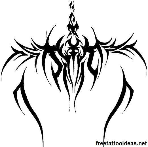 Tribal tattoo - http://www.freetattooideas.net/category/tribal-tattoos/