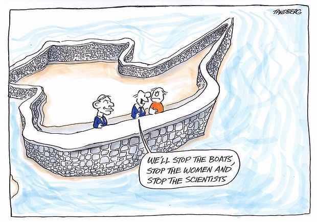 Ron Tandberg - We'll stop the boats, stop the women and stop the scientists