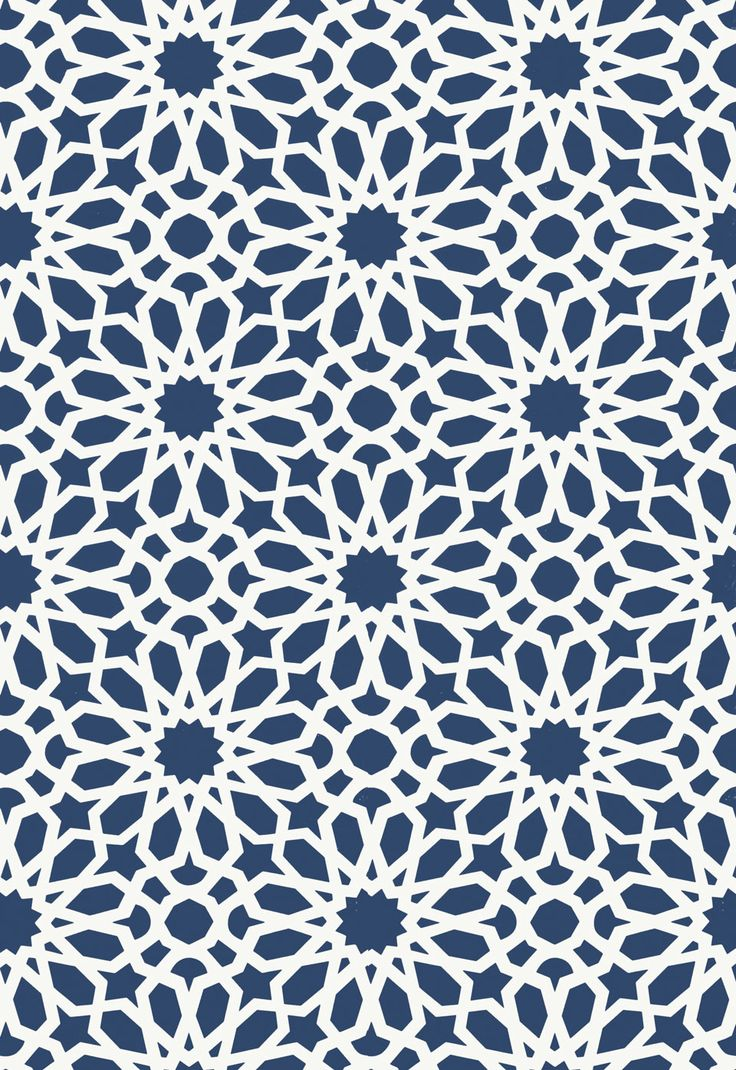 Wallcovering / Wallpaper | Agadir Screen in Lapis | Schumacher