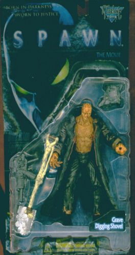 Vtg 96 MOSC! SPAWN The Movie Series GRAVE BURNT SPAWN Action Figure McFARLANE