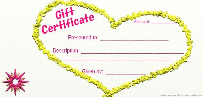 plenty of blank gift certificates to be filled in with whatever I didn't have time to get....