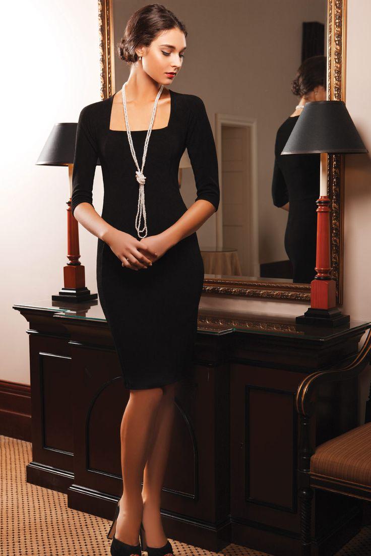 SACHA DRAKE Iris 3/4 Sleeve Dress in Black. Work Dress. Cocktail Dress. Party…                                                                                                                                                                                 More