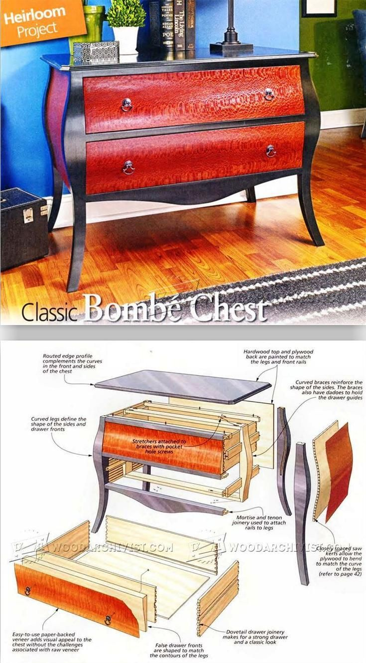 Classic Bombe Chest Plans - Furniture Plans and Projects | WoodArchivist.com