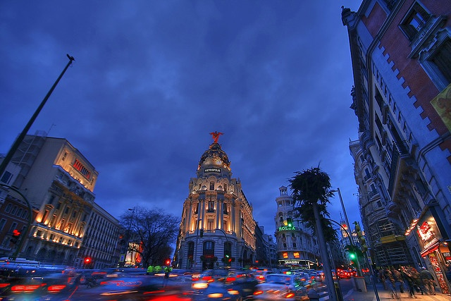 Madrid Gran Via by GustavoCba, via Flickr