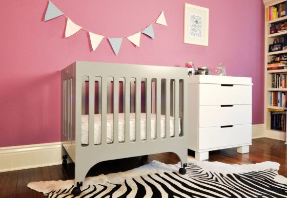 Babyletto Grayson Mini Crib Gray - Perfect for a small nursery!