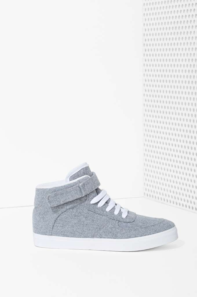 JC Play by Jeffrey Campbell Slater Wool Sneaker | Shop Lena Dunham Is A Nasty Gal at Nasty Gal