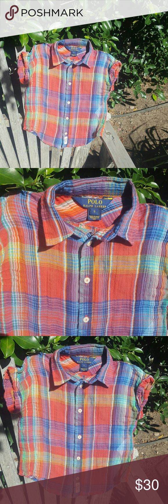 Polo by Ralph Lauren for kids shirt Polo by Ralp Lauren for kids shirt . Really pretty and colorful great with a cute denim skirt ... Polo by Ralph Lauren Shirts & Tops Blouses