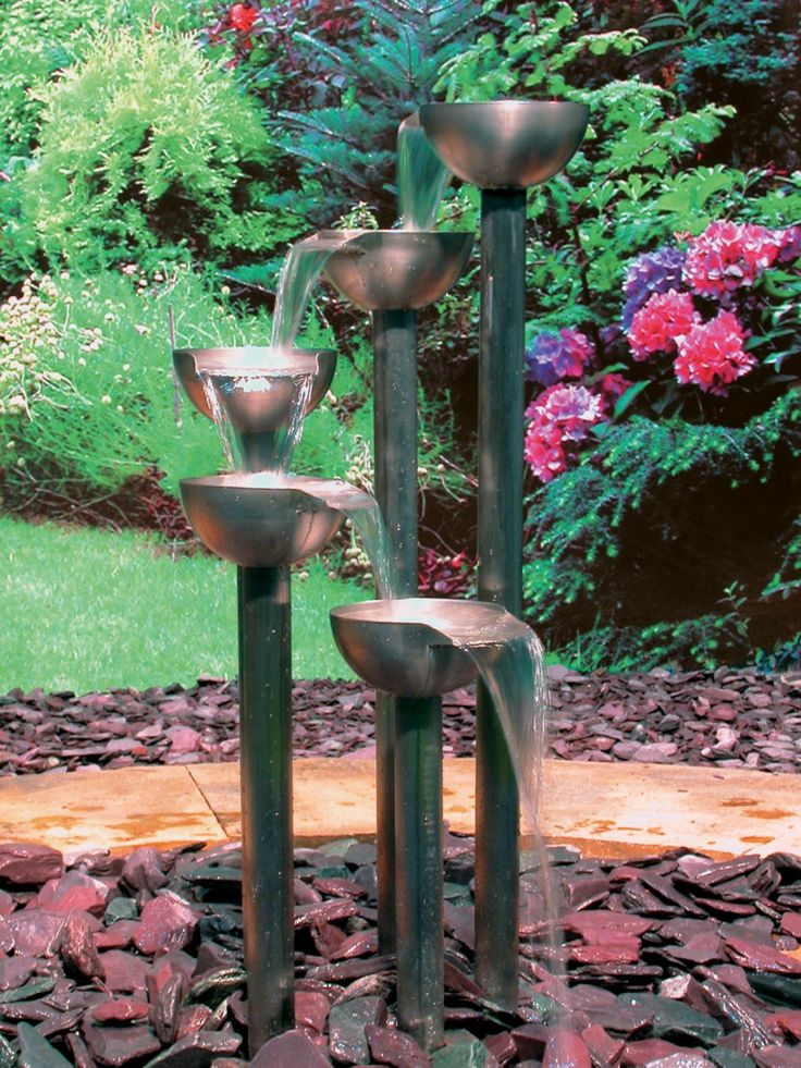 1000 images about water features on pinterest gardens for Garden fountains and water features