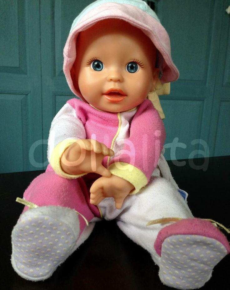 Fisher Price 2001 Mattel Blue Eyes Baby Plush Bean Bag