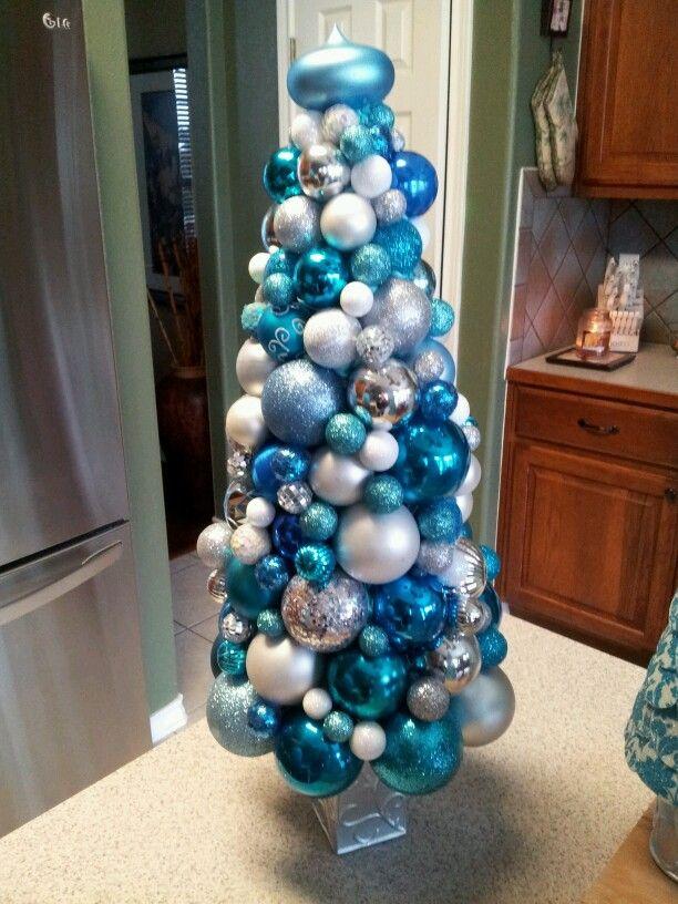 Decorative Ball Tree on a Pedestal