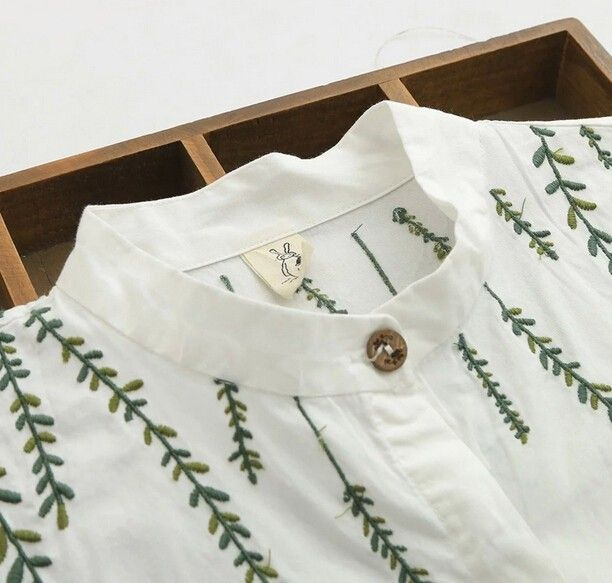 Embroidery Idea Aliexpress.com : Buy small fresh Willow embroidery cotton Turn down collar long sleeve white long shirt blouse mori girl 2016 summer from Reliable blouse shirt suppliers on B&Y Just be yourself
