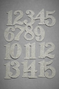 Glittered numbers