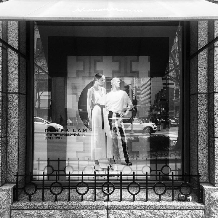 "NEIMAN MARCUS, Michigan Avenue, Chicago, Illinois, ""Black and White Fashionable Distinction"", words/photo by Kristin, pinned by Ton van der Veer"