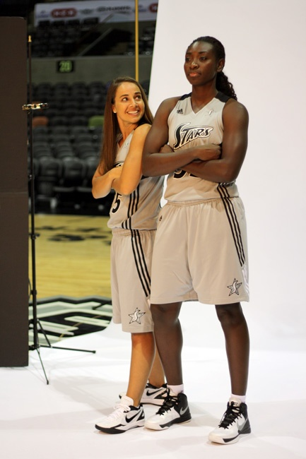 Becky and Sophia, just hanging out at Media Day