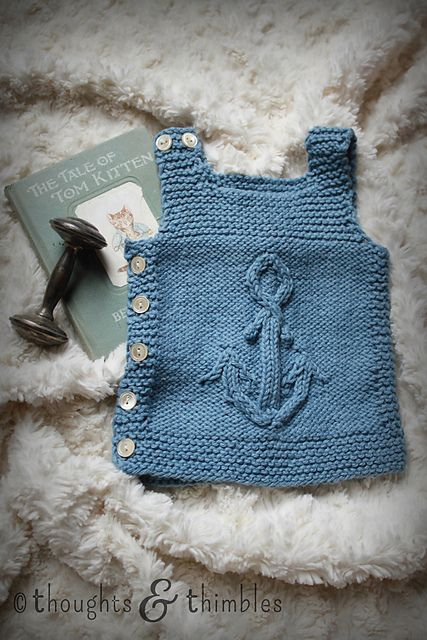 Ravelry: thoughtsnthimbles' Anchors Aweigh Pebble Vest